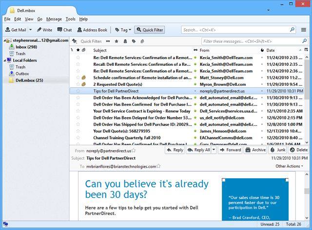 lotus notes to thunderbird converter last screens